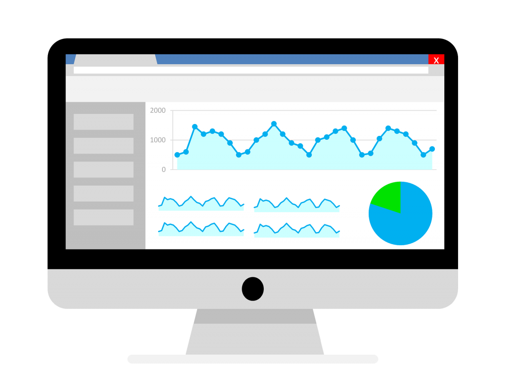 a graphic of an analytics dashboard for local seo reporting